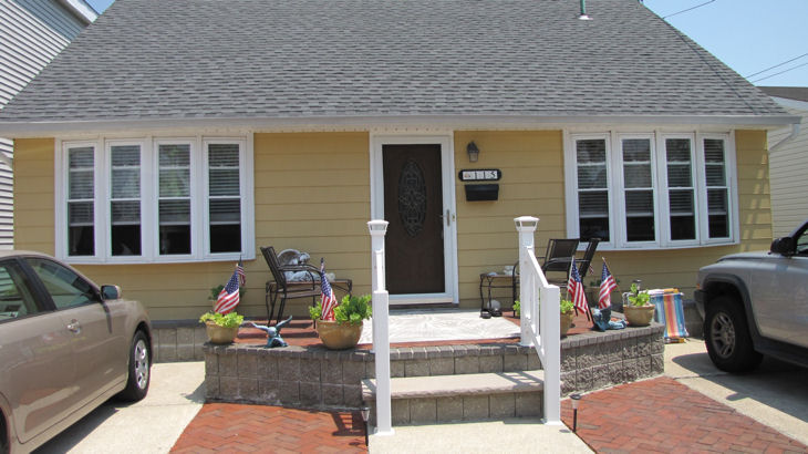 Wildwood Crest Summer Vacation Rental - 115 W. Denver Avenerear apt, Wildwood Crest